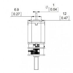 Micro Motorreductor de Alto Torque 100rpm